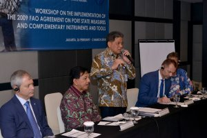 Sekjen KKP Menghadiri Pembukaan Workshop On The Implementation Of The 2009 FAO Agreement on Port States Measures and Complementary Instruments and Tools