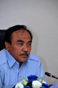 Dirjen Perikanan Budidaya Slamet Soebjakto saat melakukan Dialog Kebijakan Pengembangan Budidaya Laut Nasional di Gedung Mina Bahari III, Jakarta, Senin, (20/3). Foto (Humas KKP/M. Iqbal)